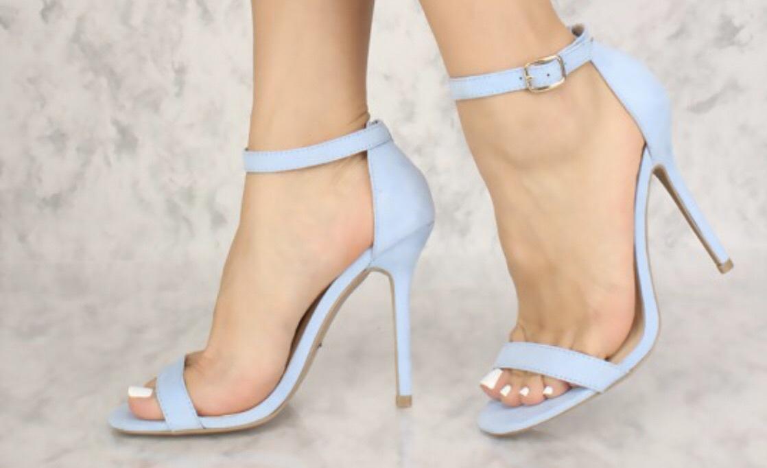 Shoes Blue Light Blue Baby Blue Heels High Heels Summer Party Wheretoget