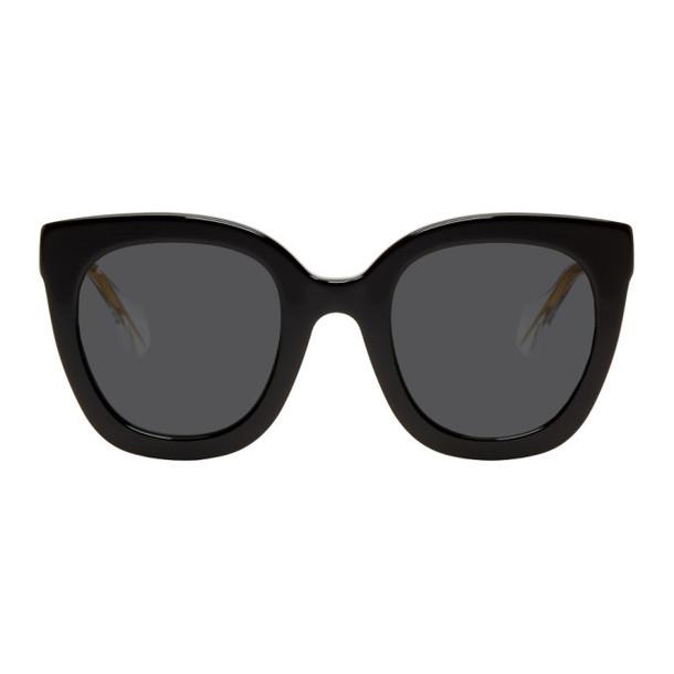 Gucci Black and Grey Square Sunglasses