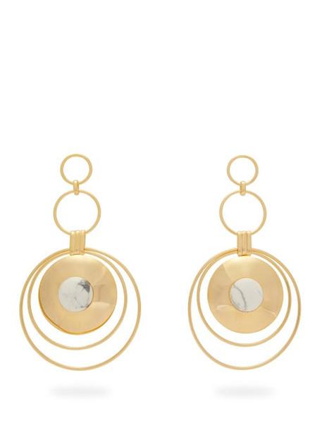 Joelle Kharrat - Chapiteau Gold Plated Drop Earrings - Womens - White