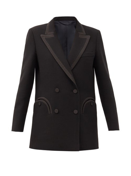 Blazé Milano - Resolute Double-breasted Wool-twill Blazer - Womens - Black