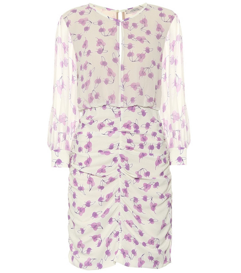 Dorothee Schumacher Radiant Leaves printed minidress in white