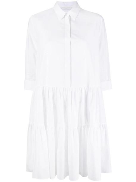 Fabiana Filippi pleated shirt dress in white