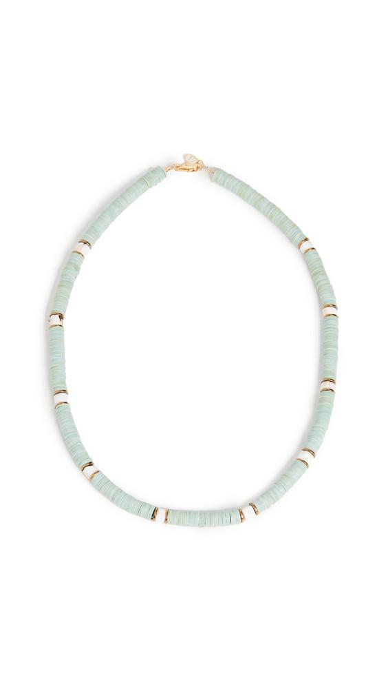 Maison Monik Ares Necklace in mint / white