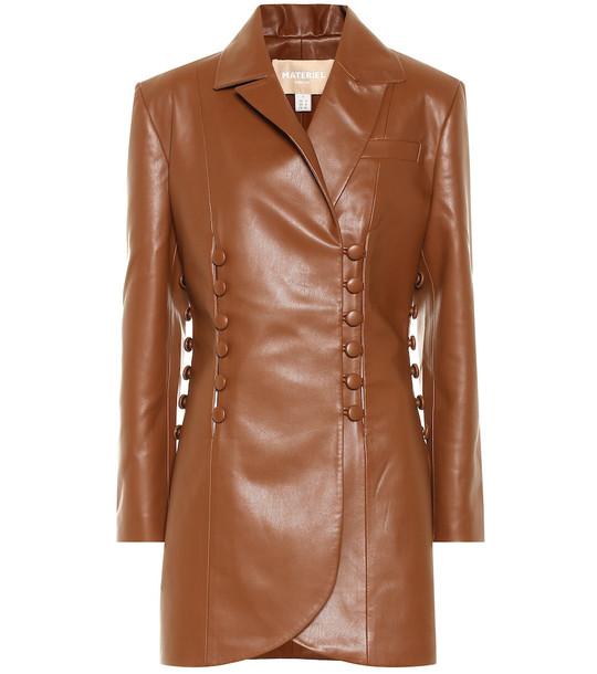 Matériel Tbilisi Faux leather jacket in brown