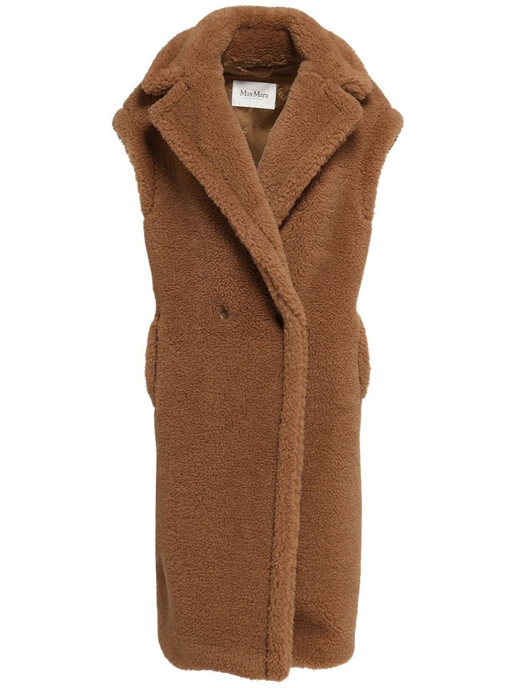 MAX MARA Camel & Silk Long Vest Coat