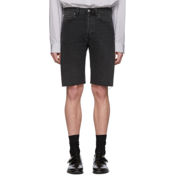 Balenciaga Black Denim Vintage Shorts