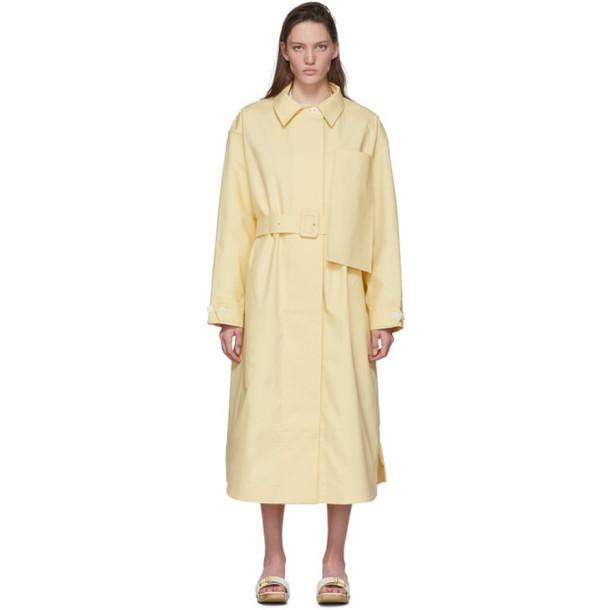 Jacquemus Yellow Le Manteau Camiseto Long Coat