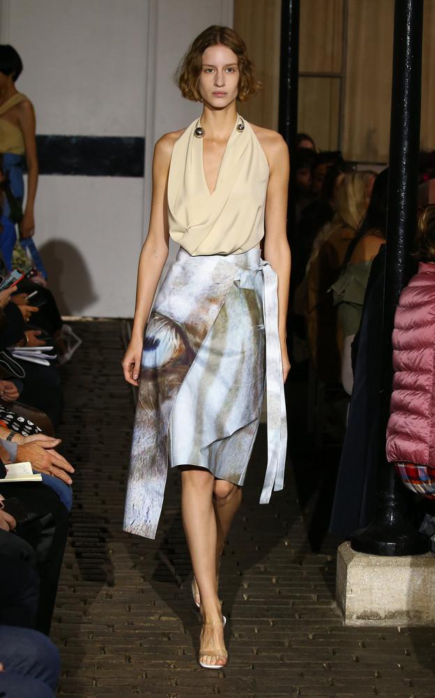 A.W.A.K.E. A.W.A.K.E. Martina Cotton-Blend Apron Wrap Skirt