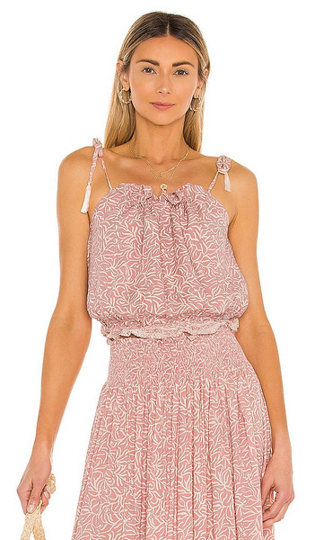 Natalie Martin Poppy Top in Pink in coral / blush