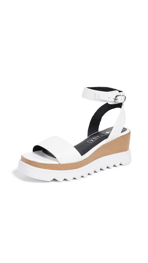Sol Sana Tray Wedge Sandals in white