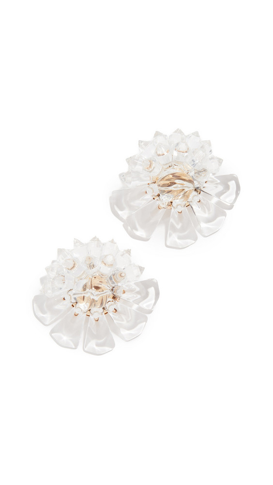 Diana Broussard Flower Earrings in transparent