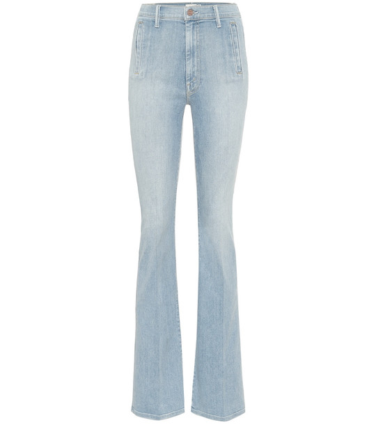 Mother The Drama high-rise bootcut jeans in blue