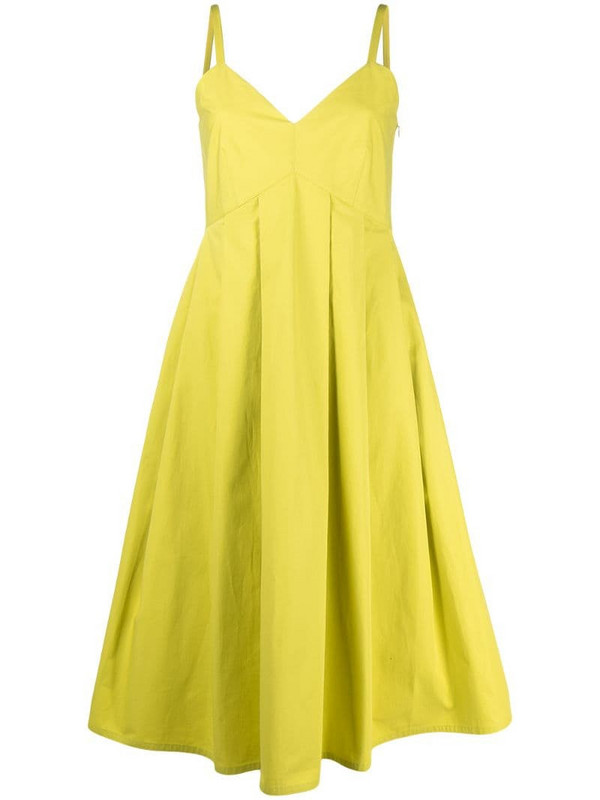 Sofie D'hoore pleated empire-line dress in green