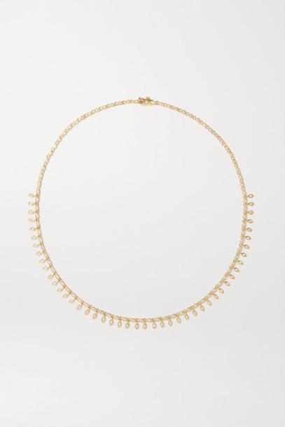 Sydney Evan - Evil Eye Eternity 14-karat Gold Diamond Necklace