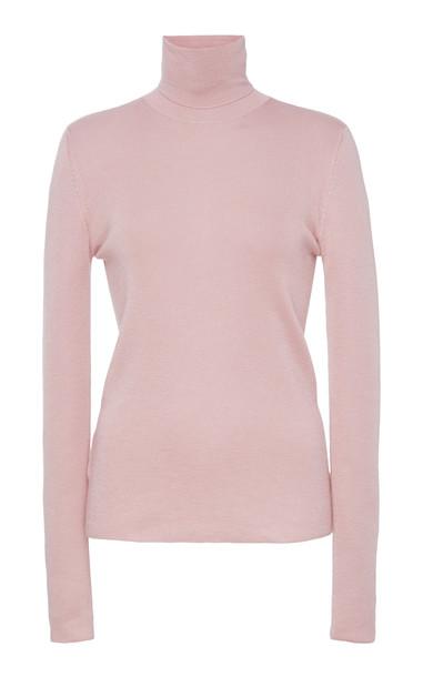 Prada Cashmere Turtleneck Sweater in pink