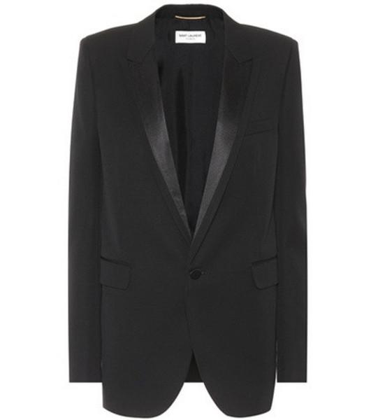 Saint Laurent Virgin wool tuxedo jacket in black