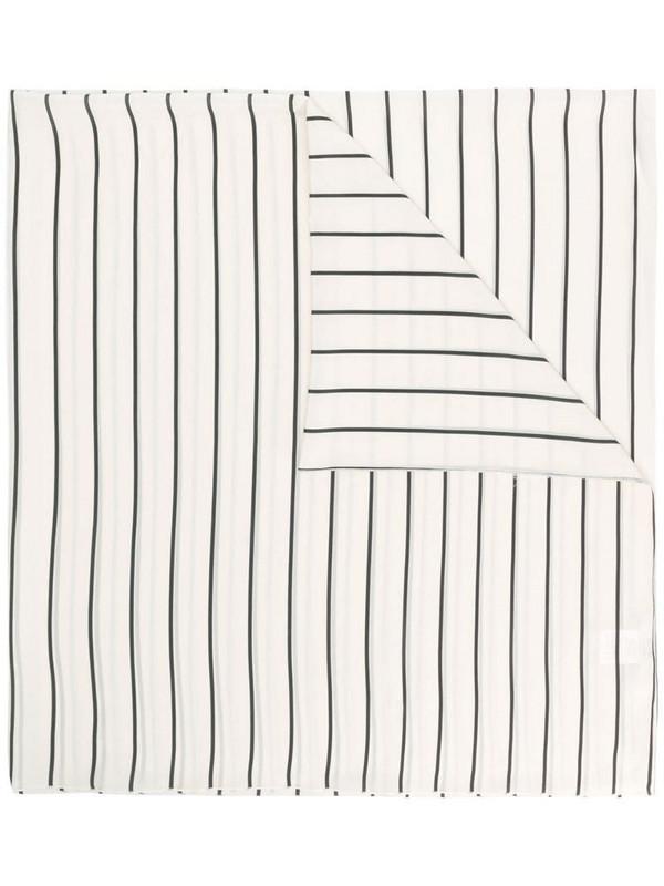 Alysi striped silk scarf in neutrals