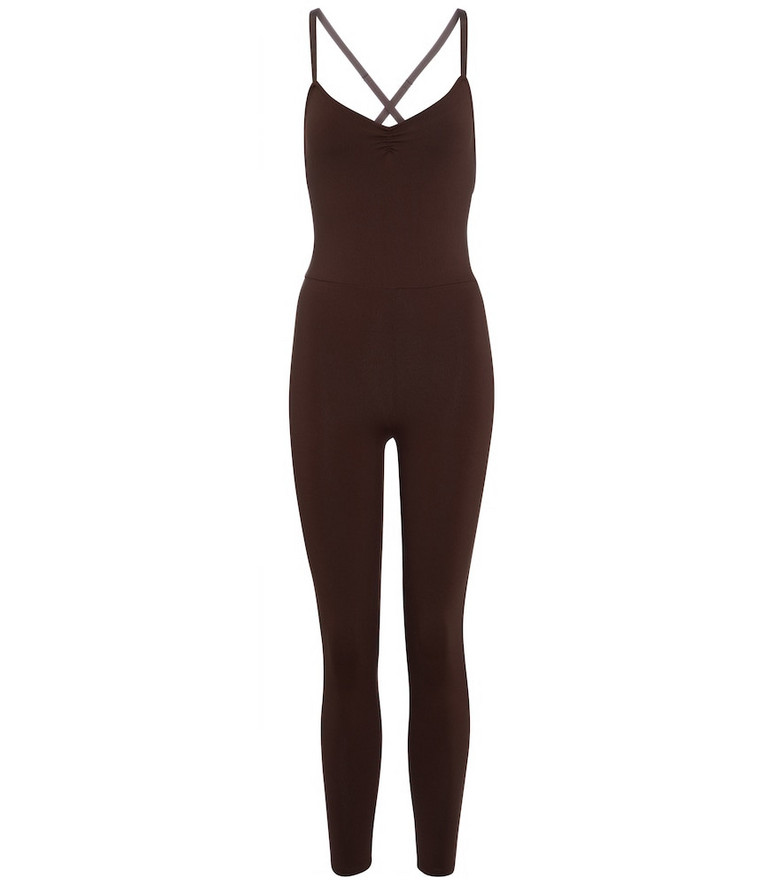 Live The Process Saturn performance jumpsuit in brown