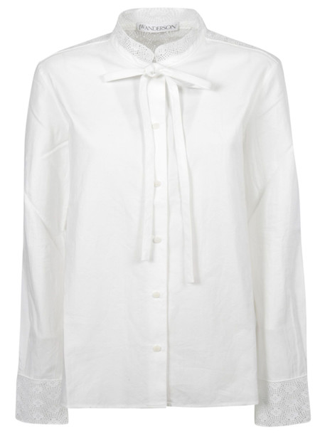 J.W. Anderson Jw Anderson Lace Trim Shirt in white