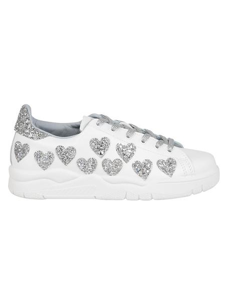 Chiara Ferragni Glittered Sneakers in silver