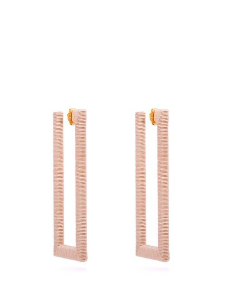 Rebecca De Ravenel - Geo Cord Earrings - Womens - Pink