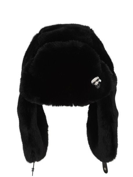 KARL LAGERFELD Karl Ikonik Faux Fur Hat in black