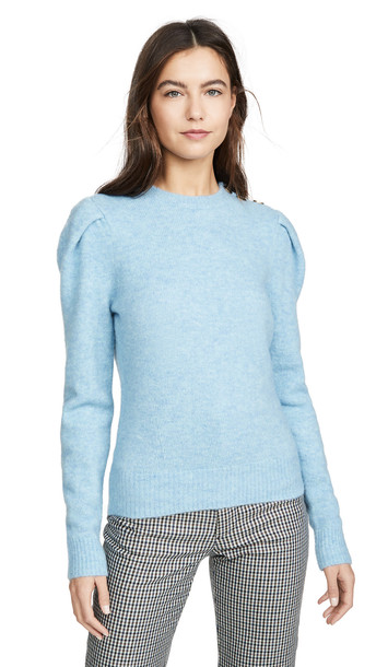 Coach 1941 Full Sleeve Crew Neck Sweater in blue