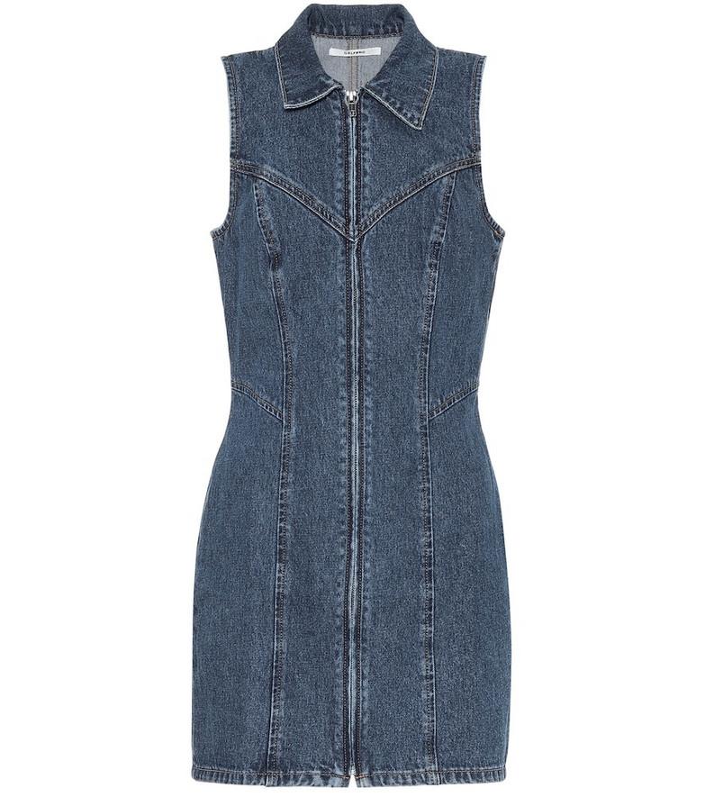 Grlfrnd Colette denim dress in blue