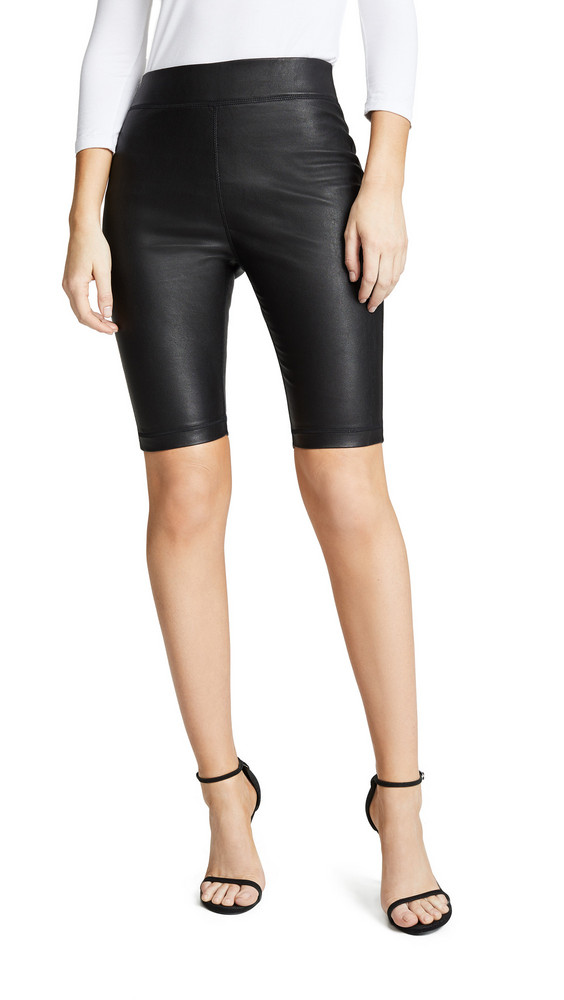 Cynthia Rowley Leather Bike Short in black