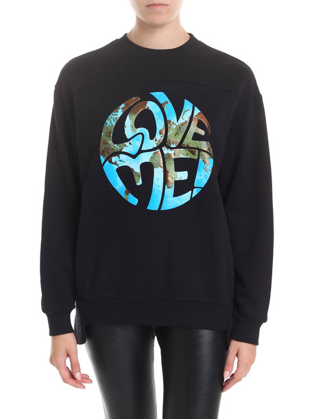 Alberta Ferretti - Love Me Sweatshirt in black