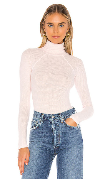Free People All You Want Bodysuit in Pink