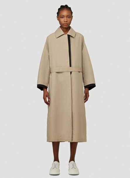 Jil Sander Canvas Coat in Beige size DE - 34