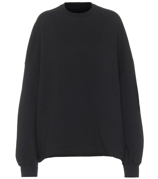 Rick Owens Felpa cotton sweatshirt in black