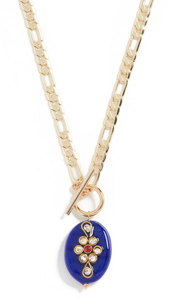 Shashi Raajkumaari Necklace in blue / gold