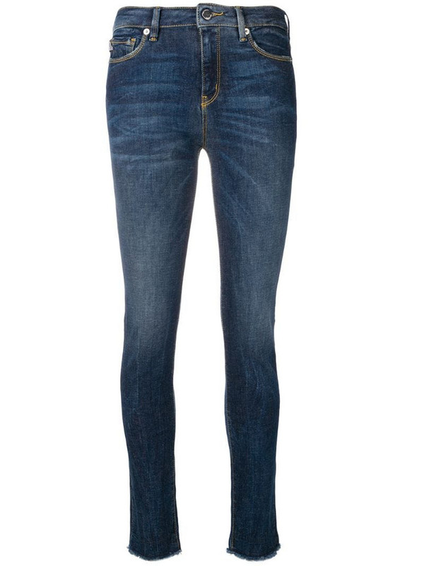 Love Moschino mid-rise skinny jeans in blue