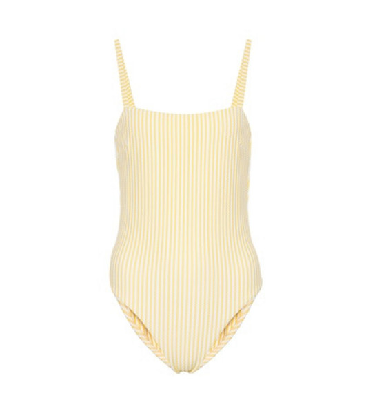 Asceno Striped swimsuit in yellow