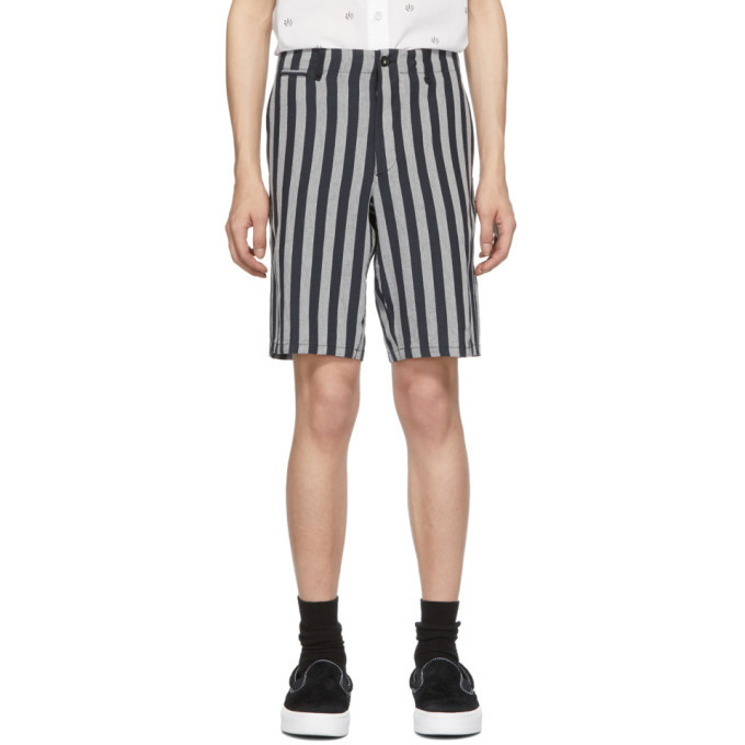 rag and bone rag & bone Navy & White Stripe Base Shorts