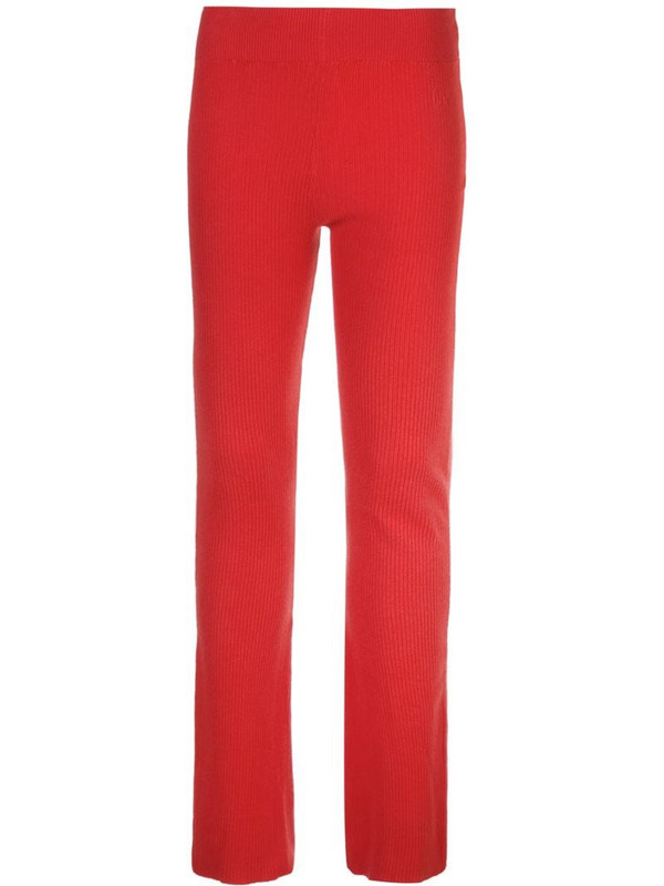 Alexandra Golovanoff ribbed knit trousers in red