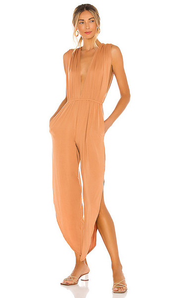 HAH Michele Bell Jumpsuit in Tan in brown