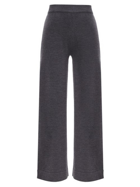 Max Mara Leisure - Renna Trousers - Womens - Dark Grey