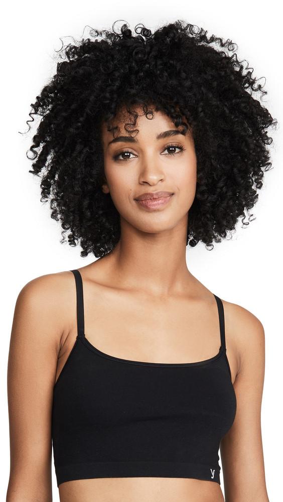 Yummie Kenzie Cotton Seamless Cami Bra in black