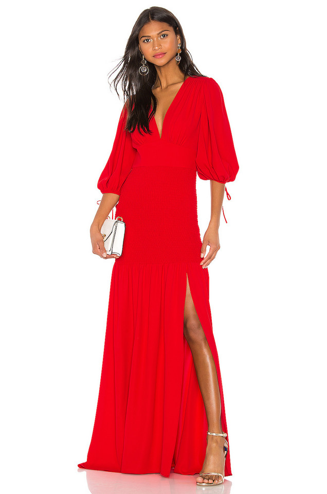Amanda Uprichard Gala Maxi Dress in red