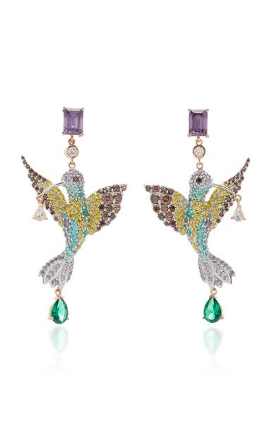 Anabela Chan Hummingbird 18K Gold Vermeil Multi-Stone Earrings