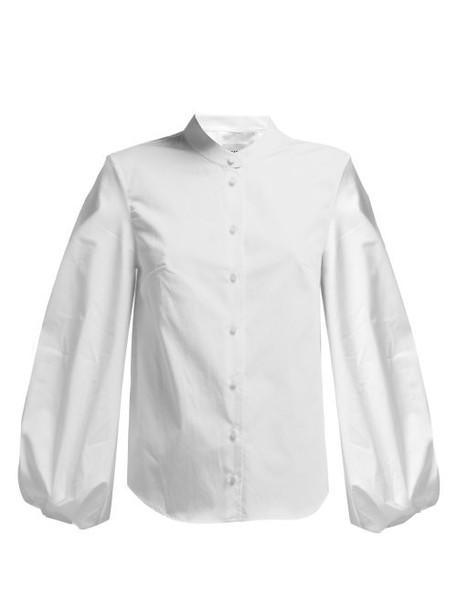 Khaite - Willa Balloon Sleeve Cotton Shirt - Womens - White