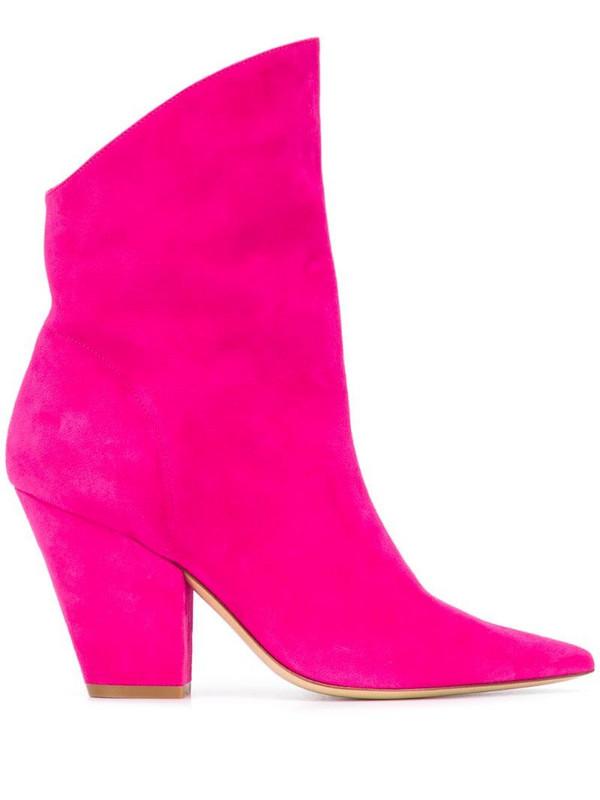 Giuliano Galiano Alexa pointed boots in pink