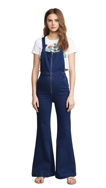 Rolla's East Coast Flare Overalls in blue