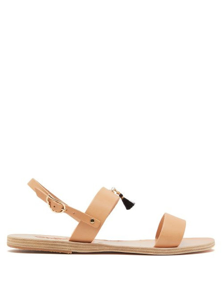 Ancient Greek Sandals - X Gas Bijoux Clio Leather Sandals - Womens - Tan