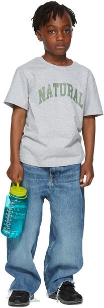 Museum of Peace & Quiet SSENSE Exclusive Kids Grey 'Natural' Big Kids T-Shirt
