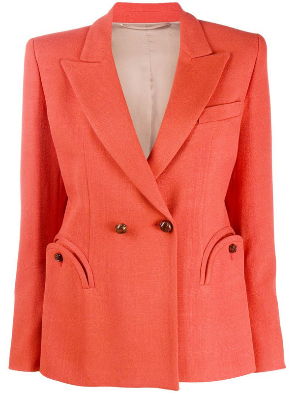 Blazé Milano double-breasted fitted blazer in orange