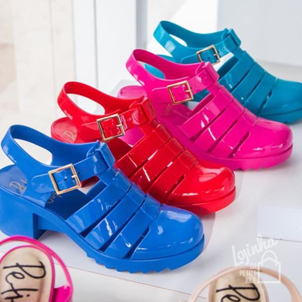 shoes blue pink purple red sandals pajamas petit jolie straps buckles pj1254 pvc amora